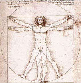 Developing the Faculties of the Chakras - Vitruvian Man