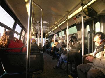 Asleep in the bus