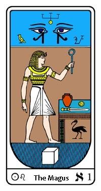 Tarot, Arcanum No.1, Egyptian Tarot, The Magus
