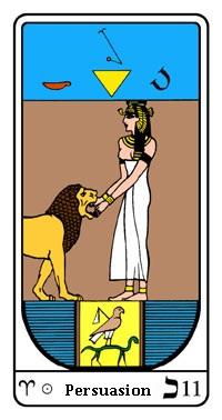 Tarot, Arcanum No. 11, Egyptian Tarot, The Persuasion