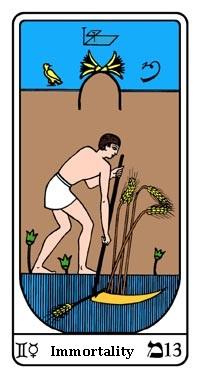 Tarot, Arcanum No. 13, Egyptian Tarot, Immortality