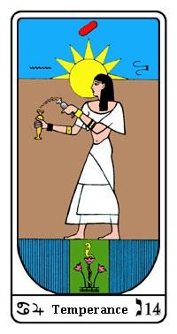 Tarot, Arcanum No. 14, Egyptian Tarot, Temperance