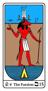 Tarot, Arcanum No. 15, Egyptian Tarot, Passion