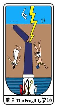 Tarot, Arcanum No. 16, Egyptian Tarot, Fragility