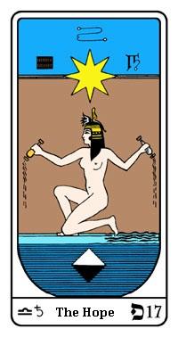Tarot, Arcanum No. 17, Egyptian Tarot, Hope