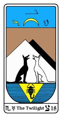 Tarot, Arcanum No. 18, Egyptian Tarot, Twilight