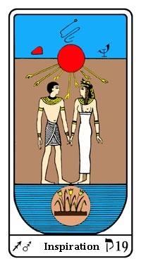 Tarot, Arcanum No. 19, Egyptian Tarot, Inspiration