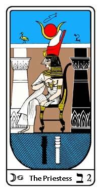 Tarot, Arcanum No.2, Egyptian Tarot, The Priestess