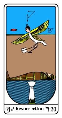 Tarot, Arcanum No. 20, Egyptian Tarot, Resurrection