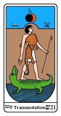 Tarot, Arcanum No. 21, Egyptian Tarot, Transmutation