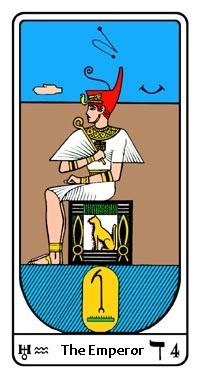 Tarot, Arcanum No. 4, Egyptian Tarot, The Emperor