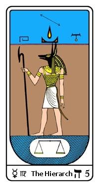 Tarot, Arcanum No. 5, Egyptian Tarot, The Hierarch