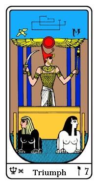 Tarot, Arcanum No. 7, Egyptian Tarot, The Triumph