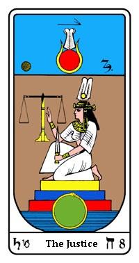 Tarot, Arcanum No. 8, Egyptian Tarot, The Justice