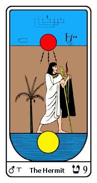 Tarot, Arcanum No. 9, Egyptian Tarot, The Hermit