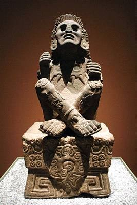 Xochipilli- Aztec God of agriculture, flowers, music,song, poetry, and dance