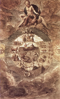 Mutus Liber (Cartea Mută) – Planşa a III-a – Dumnezeu şi Creaţia Sa