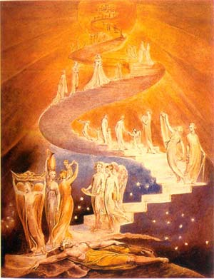 William Blake, Jacob's Ladder (The human being: Body, Soul, Spirit)