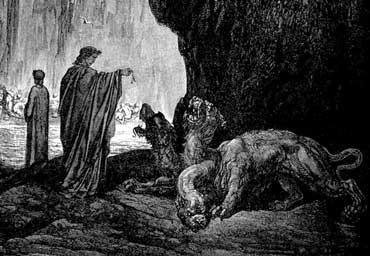 Le Chien, l'instinct sexuel, Cerbero, Dante