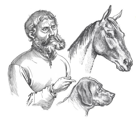 A barátság értéke (egy ember, a lova és a kutyája)