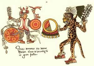 LOS CABALLEROS TIGRES, jaguar aztec
