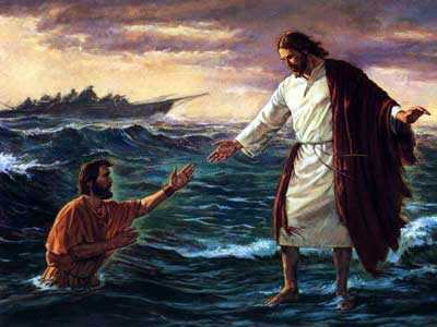 Gesù cammina sulle acque. Pietro