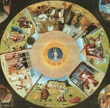 Los siete pecados- Hieronymous Bosch (El psicoanalisis íntimo)