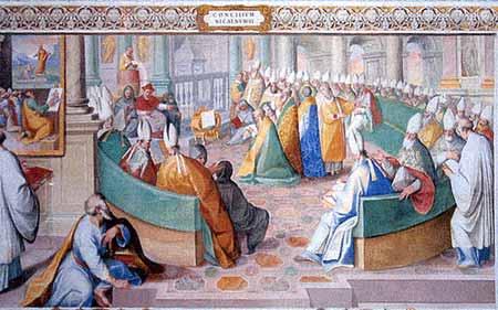 El Concilio de Nicaea- Capela Sistina