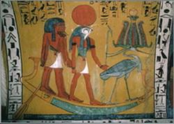 El Dios Ra conduce con su barca el Alma-La Inteligencia Solar