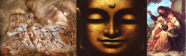 1. Rajas- L'azione dell'Essere; 2.Tamas- La non-azione dell'Essere; 3.Sattva- L'Equilibrio dell'Essere