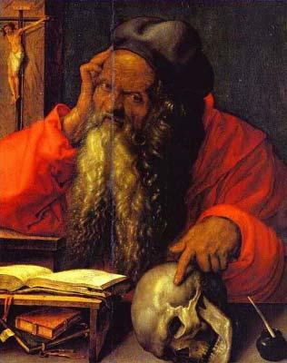 Szent Jeromos - Dürer (Megérteni a Halált)