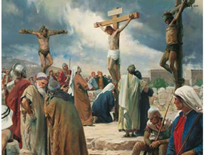 The Crucifixion of Jesus On Cross