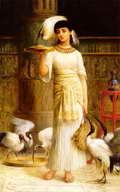 Ale, la Sirviente del Sagrado Ibis en el Templo de Isis -  Edwin Longsden Long