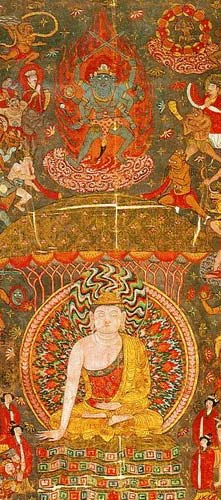 Buddha élete- Márá kísértése