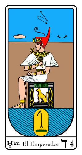 Tarot, Tarot No. 4 de Arcano, Tarot Egipcio