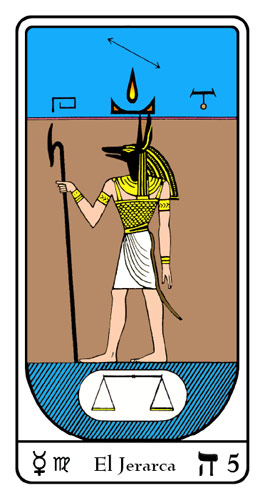 Tarot, Tarot No. 5 de Arcano, Tarot Egipcio