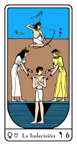 Tarot, Tarot No. 6 de Arcano, Tarot Egipcio