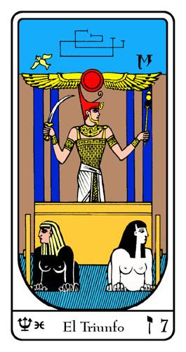 Tarot, Tarot No. 7 de Arcano, Tarot Egipcio