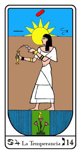 Tarot, Tarot No. 14 de Arcano, Tarot Egipcio