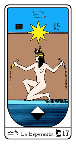 Tarot, Tarot No. 17 de Arcano, Tarot Egipcio