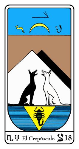 Tarot, Tarot No. 18 de Arcano, Tarot Egipcio
