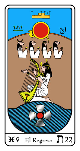 Tarot, Tarot No. 22 de Arcano, Tarot Egipcio