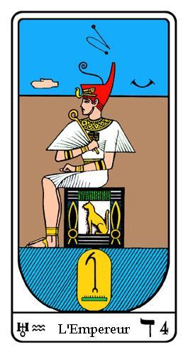 Tarot, Tarot - Arcane N°4, Tarot Égyptien