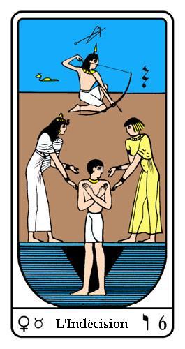 Tarot, Tarot - Arcane N°6, Tarot Égyptien