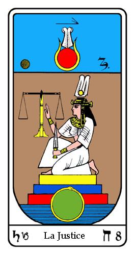 Tarot, Tarot - Arcane N°8, Tarot Égyptien