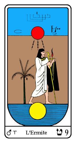 L'Arcane 9 - L'Ermite - Tarot Égyptien