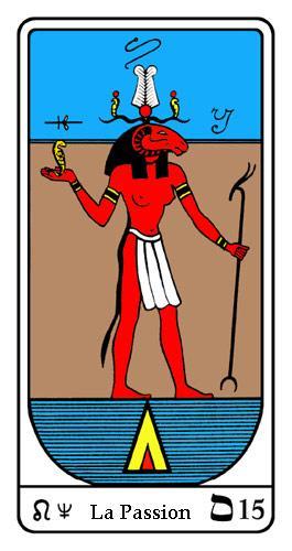 Tarot, Tarot - Arcane N°15, Tarot Égyptien