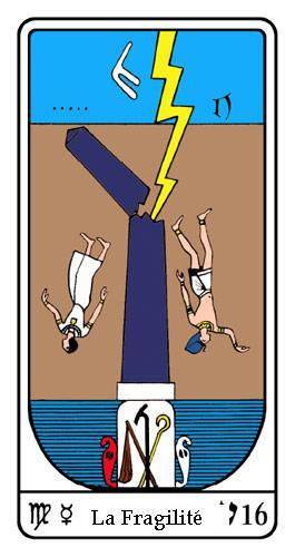 Tarot, Tarot - Arcane N°16, Tarot Égyptien
