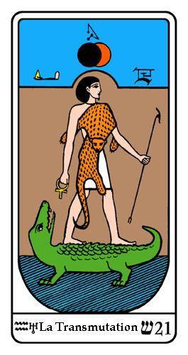 Tarot, Tarot - Arcane N°21, Tarot Égyptien