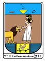 Tarocco, L'Arcano N 11, Tarocco Egiziano